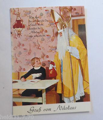 weihnachten nikolaus kinder gru vom nikolaus 1960. Black Bedroom Furniture Sets. Home Design Ideas