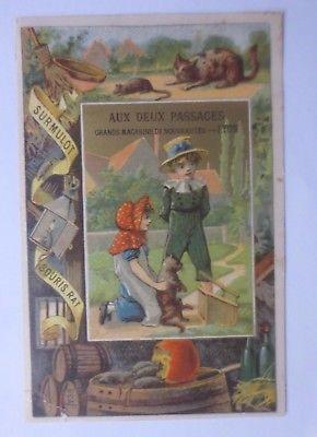 Kaufmannsbilder, Aux Deux Passages-Lyon, Kinder, Katze, Ratte  1900 ♥ (61423)