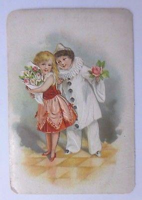 Kaufmannsbilder, Chocolat des 3 Freres Lyon, Kinder, Harlekin   1900 ♥ (61421)