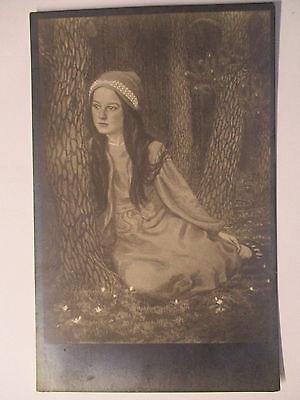 Künstlerkarte Fidus, Nr. 33, Tochter des Künstlers (31127)