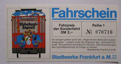 Frankfurt, Ebbelwei Express, Sonderfahrt 1977 Fahrschein (33020)