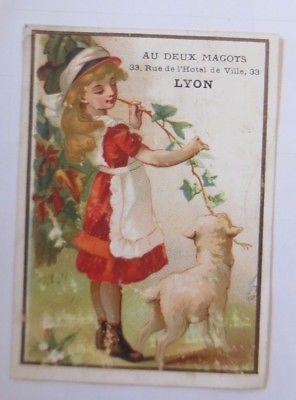 Kaufmannsbilder, Lyon,  Kinder, Lamm,   1910 ♥ (63199)