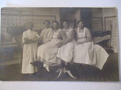 Berufe, Krankenhaus, Krankenschwestern, Fotokarte ca. 1910 (37978)