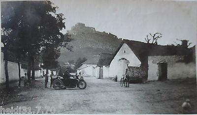 Motorrad mit Beiwagen, original Foto (11822)