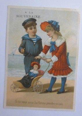 Kaufmannsbilder,  Lyon, L. Blouzard, Kinder, Puppe ♥ (64040)