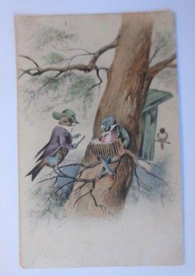 Personifiziert, Vogel, Musizieren, Baum,   1915 ♥ (1502)