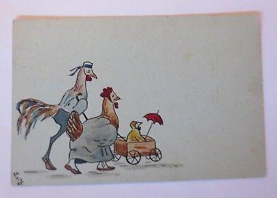 Personifiziert, Ostern, Huhn, Küken,    1907  ♥ (35569)