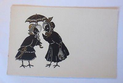 Personifiziert, Vogel, Mode, Schirm,    1930  ♥ (51067)