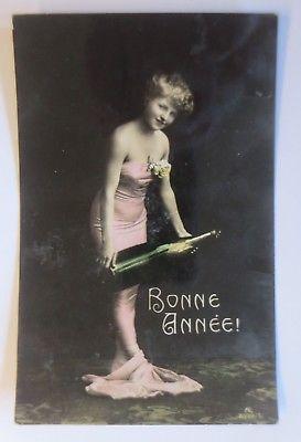 Neujahr, Frauen, Mode, Champagner, Jugendstil, 1907 ♥ (64775)