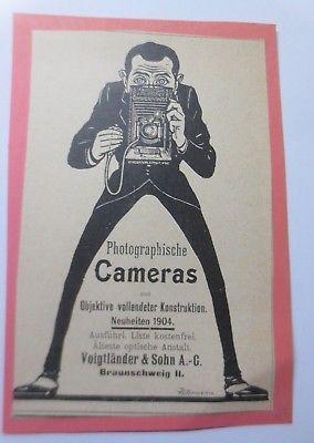 Werbung, Reklame, Kamera, ca. 1904, Voigtländer & Sohn AG Braunschweig ♥ (64482)