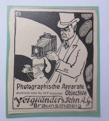 Werbung, Reklame, Kamera,  ca. 1922, Voigtländer&Sohn AG Braunschweig ♥ (64481)