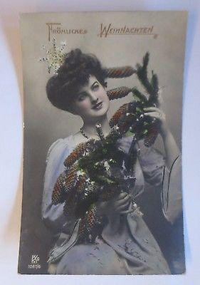 Weihnachten, Frauen, Mode, Tannenzapfen,  1911  ♥ (64697)