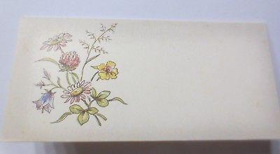 Tischkärtchen in guter Erhaltung, Blumen,   ♥ (64375)