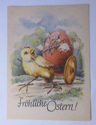 Ostern, Personifiziert, Küken,  Wagen, Osterei, Maiglöckchen,   1940 ♥  (58750)