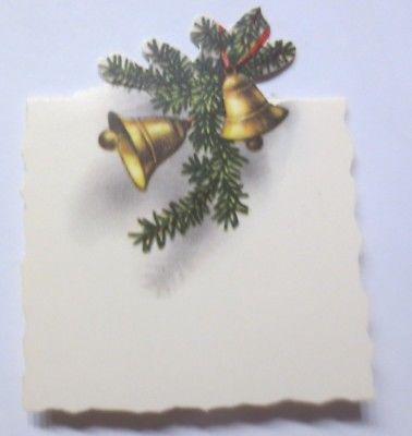 Tischkärtchen in guter Erhaltung, Weihnachten, Glocken,   ♥ (64372)