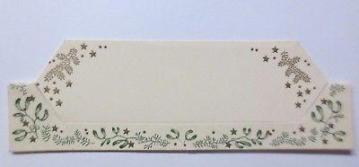 Tischkärtchen in guter Erhaltung, Weihnachten, Misteln, Sterne,    ♥ (64371)