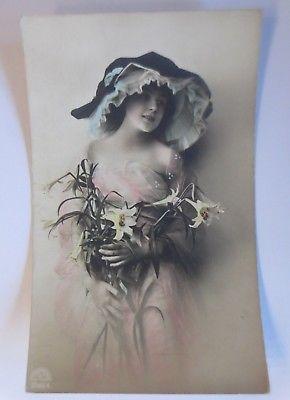 Frauen, Mode, Hutmode, Blumen,  1910  ♥ (64692)