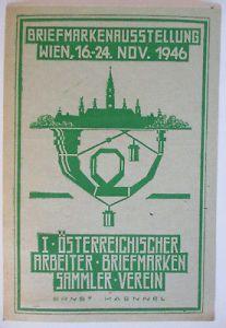 Österreich, Briefmarkenausstellung Wien 1946 Karte mit SST (44741)