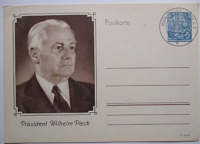 DDR, Ganzsache Präsident Wilhelm Pieck (38516)