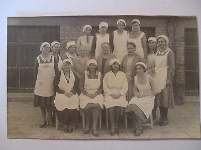 Berufe,Frauen, Hauswirtschaft, Küche, Kochkurs, Fotokarte ca. 1930 (258)