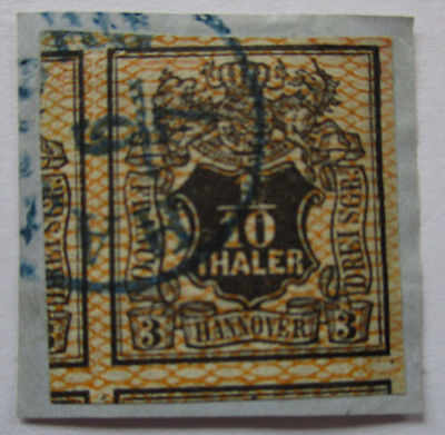 Hannover, Michel Nr. 12 Briefstück Breitrand (57229)