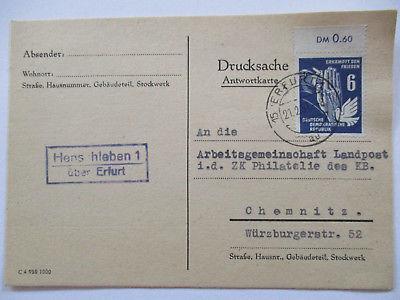 Erfurt Henschleben Poststellen Stempel Landpoststempel (39799)