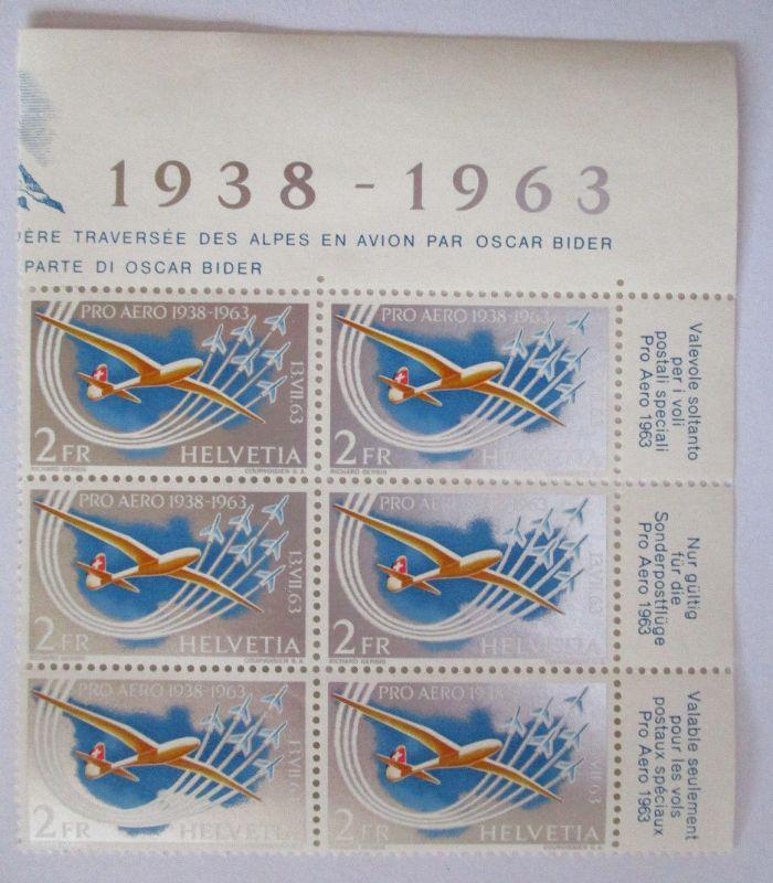 Schweiz, Pro Aero 1963, Sechserblock postfrisch (15227)