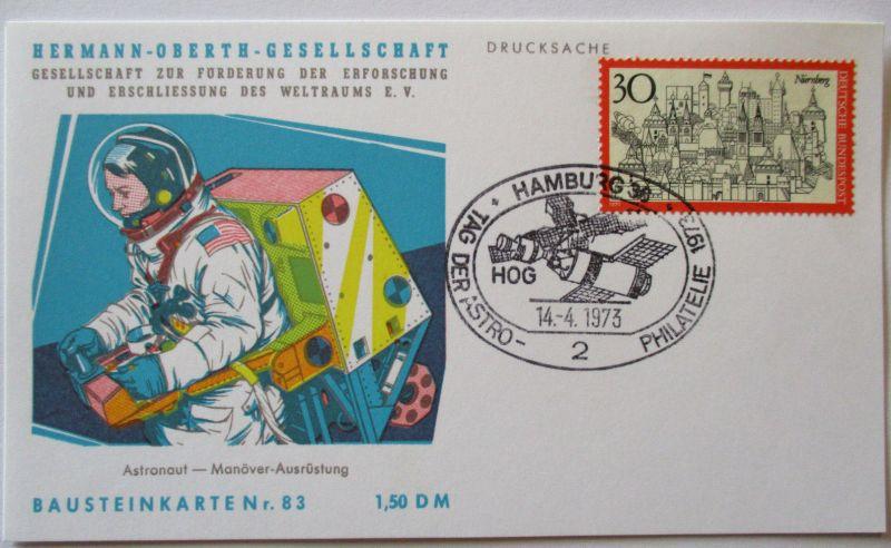 Raumfahrt, Hermann Oberth Gesellschaft, Bausteinkarte 83 (5092)