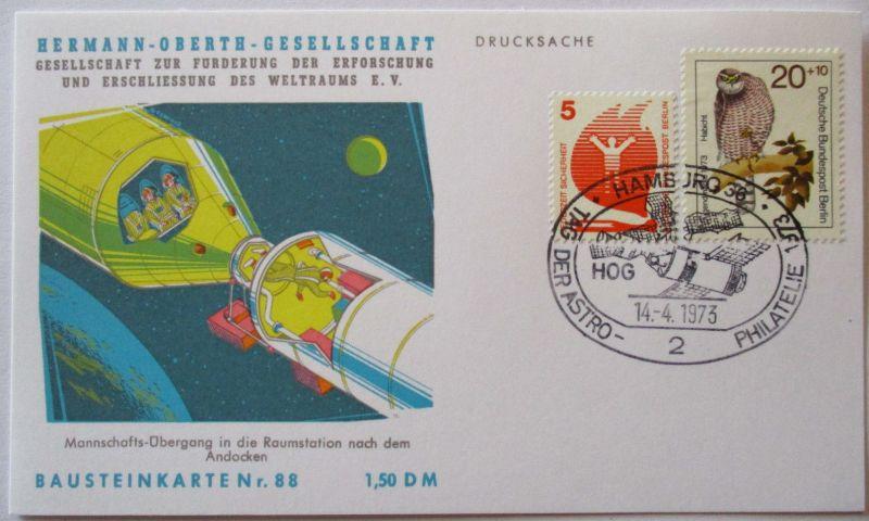 Raumfahrt, Hermann Oberth Gesellschaft, Bausteinkarte 88 (9746)