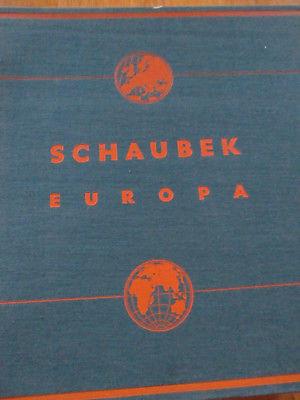 Schaubek Album Europa Mittlere Ausgabe 1941 neuwertig ohne Briefmarken