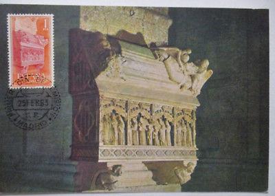 Spanien Maximumkarte  von 1963 Monasterio de Poblet (44610)