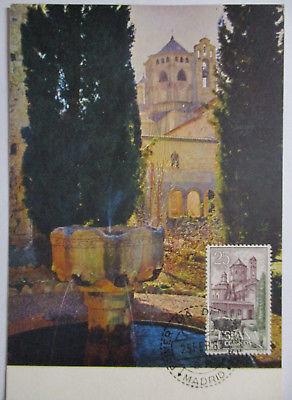 Spanien Maximumkarte  von 1963 Städte Gebäude Monasterio de Poblet (26905)