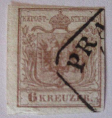 Österreich 6 Kreuzer Michel Nr.4 gestempelt (47753)