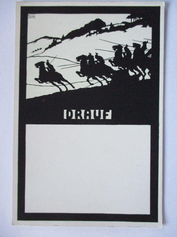 Scherenschnitt Patriotik Carlos Tips, Ulanen, Drauf (10319)