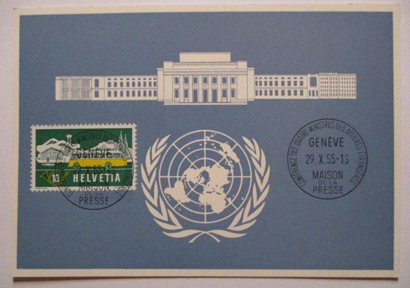 UNO Genf, Blaue Karte 1955 (65695)