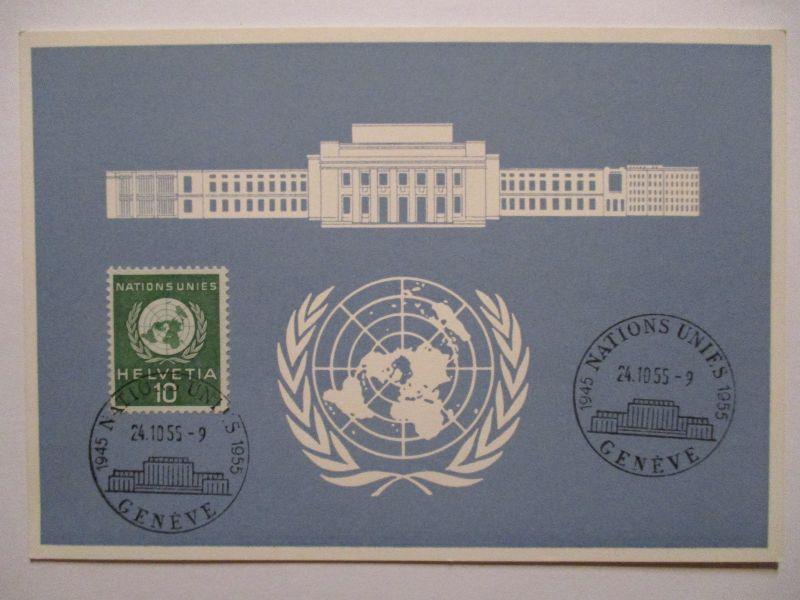 UNO Genf, Blaue Karte 1955 (14760)