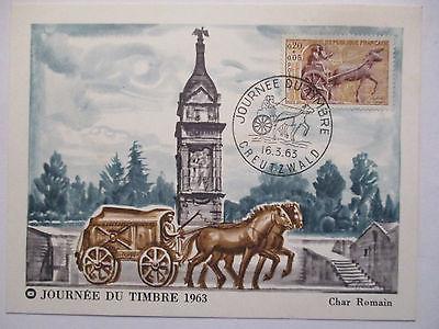 Frankreich, Maximumkarte Tag der Briefmarke 1963 (39728)