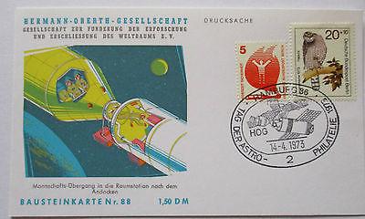 Raumfahrt Weltraum, Hermann Oberth Bausteinkarte 88 (32591)