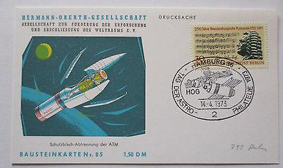 Raumfahrt Weltraum, Hermann Oberth Bausteinkarte 85 (29986)