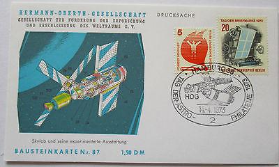 Raumfahrt Weltraum, Hermann Oberth Bausteinkarte 87 (23186)