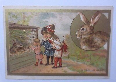 Kaufmannsbilder,Confiserie  Guichard, Lyon, Kinder, Hase  ♥ (61803)
