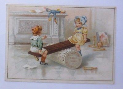 Kaufmannsbilder, Ph. Suchard, Cacao Soluble, Kinder, Wippen,  1910 ♥ (61344)