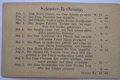 Berufe, Schuhe, Schuster, Schuhmacher, Rechnung ca. 1900 (24817)