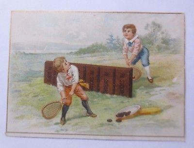 Kaufmannsbilder, Ph. Suchard, Cacao Soluble, Kinder, Tennis,  1910 ♥ (61343)