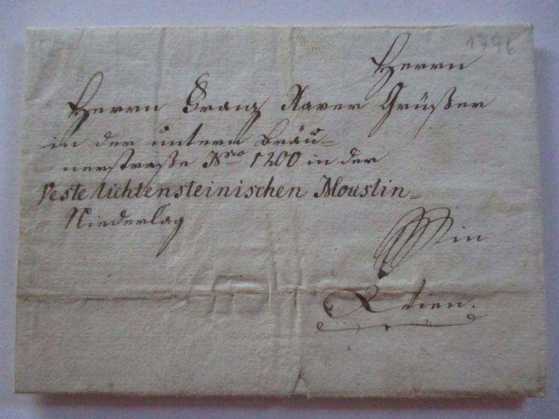 Bayern,  Vorphila Marktweiler 1796 nach Wien, Veste Lichtenstein (14384)