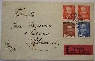 Schweiz, Nr. 259-261 auf Eilboten-Brief 1932 (7999)