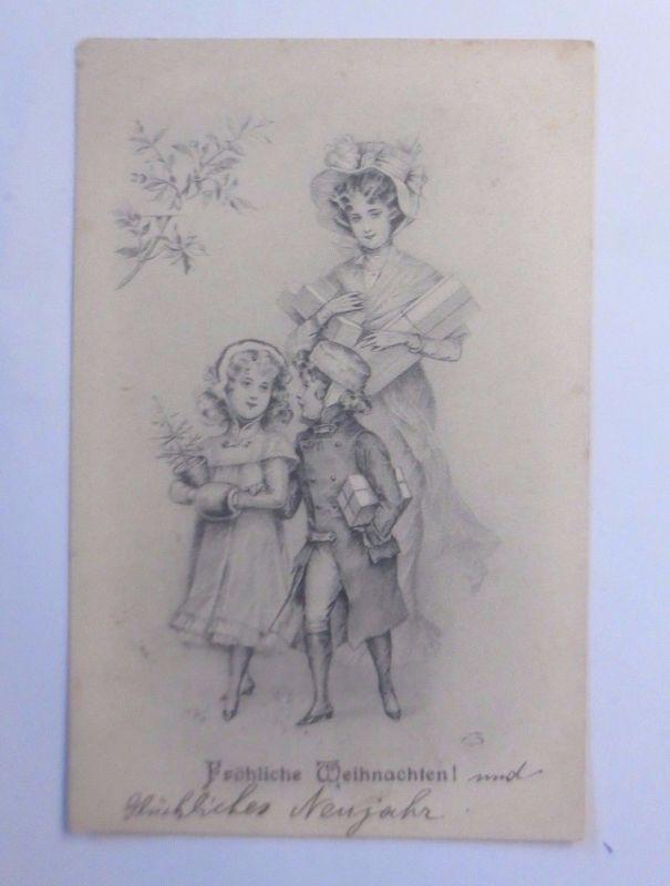 Weihnachten, Frauen, Kinder, Mode, Geschenke, Muff\