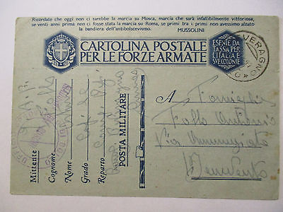 Italien, Patriotik Feldpostkarte 1942 (13609)