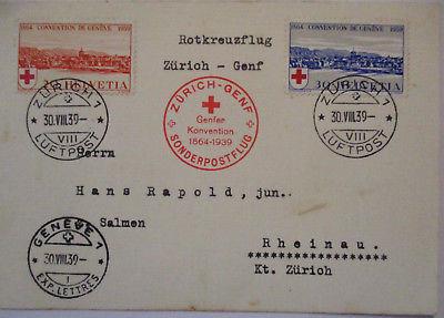 Schweiz, Nr. 357-358, Rotes Kreuz, Sonderluftpost 1939 (42917)