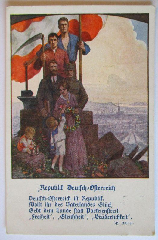 Österreich, Deutschösterreich, Freiheit Gleichheit Brüderlichkeit (28000)